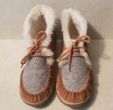 Sorel Size 10 Womens Faux Fur Leather Moccasins Shoes Boots Brown NL 2356-286