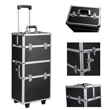 """Pro 30"""" High Quality Rolling Makeup Cosmetic Train Case Box Trolley Organizer"""