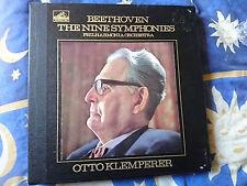 BEETHOVEN THE NINE SYMPHONIES LP BOX SET Vinyl HMV SLS 788/9 Klemperer
