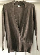 J Crew Wool Cashmere Mock Wrap Front Sweater LNC Sz XS