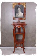 Shelf Rack Console Mahogany Wood Art Nouveau Whatnot Lyre Table Flower Stand