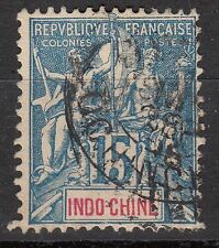 INDOCHINE TIMBRE COLONIE FRANCE  OBL  N° 8  TYPE MOUCHON
