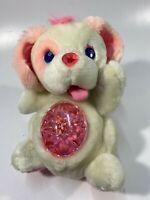 VTG Secret Keepins Sweetheart Pups Kenner White Pink Plush Dog Lock Charm 1
