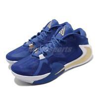 Nike Zoom Freak 1 EP Greece Blue Gold Giannis Mens Basketball Shoes BQ5423-400