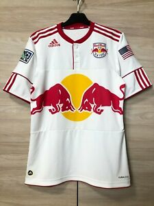 New York Red Bulls 2010 Player Issue Home Soccer Jersey Football Shirt size M