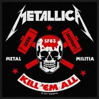 METALLICA PATCH / AUFNÄHER # 56 METAL MILITIA - 10x10cm