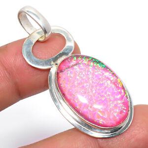 """Australian Triple Fire Opal 925 Sterling Silver Jewelry Pendant 1.8"""" S2618"""