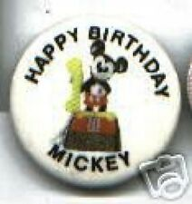 old MICKEY Mouse TELEPHONE pin Happy Birthday