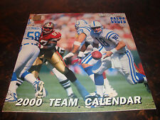 Indianapolis Colts---2000 Team Calendar---12x12---No Writing On Any Pages