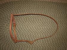 Harness leather stitched cavison caveson noseband western custom USA H975