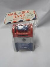 MIB Vintage Pressed-Tin U.S. Mail Box/Bank ~Made in Japan ~ Circa 60s