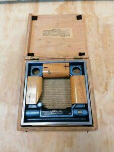 Rahmenwasserwaage Wasserwaage Maschienenwasserwaage 200x200x40 Heinrich 0,02mm/m