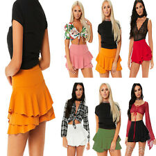 Ladies Girls RARA Mini Skirt 80s Dance Club Fancy Women Frill Skot Short 8-16
