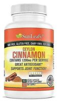 Organic Ceylon Cinnamon 1200mg - Diabetic Support,  Joint Help Made in USA -