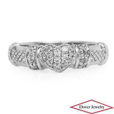 Judith Ripka White Stone Sterling Silver Lovely Pave Heart Ring NR