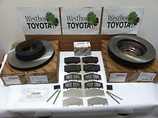 Toyota Sequoia 2003-2007 Genuine OEM Front Brake Rotors, Pad Kit, Shims and Pins