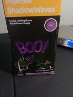 """NEW Halloween Projection-Shadow Waves Purple Scary """"Boo"""""""