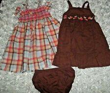 Lot 2T GYMBORE 2 Dresses + Bloom ISLAND GETAWAY Plaid Brown Multi-Color FREE SHI