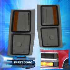 For 94-98 Chevy C10 Pickup Side Turn Signal Smoked Corner Lights Lamps Assembly