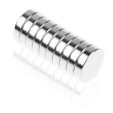 100 Aimants En Néodyme Fort 5mm et 12mm Mur Bureau Frigo Magnétique Acroche FR