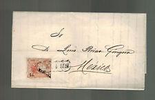 1872 San Luis Potosi Mexico Letter Cover to MExico City Matias Hernandez Soberon