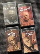 UNIVERSAL MONSTERS VHS VIDEOS X 4 - MUMMY'S GHOST, CURSE, TOMB AND HAND.