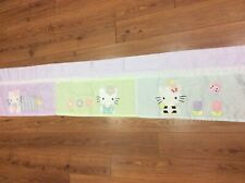 "HELLO KITTY VALANCE GINGHAM EYELET POLKA DOTS 68"" X 14"" PURPLE GREEN PINK"