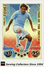 2010-11 Topps Match Attax Man Of Match Foil No 413 C. Tevez (Mancherster City)
