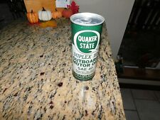 VINTAGE QUAKER STATE OUTBOARD MOTOR  OIL RARE Pint can SAE40