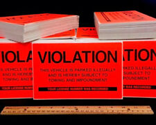 50 ((BEST DEAL!!)) VIOLATIONS NO ILLEGAL PARKING WARNING VIOLATION SIGN STICKERS