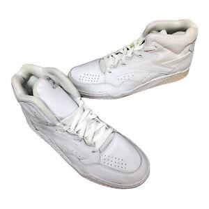 New Vintage Reebok White High Top Sneakers Mens Size 10 BB4600 HI 10505 *FLAW*