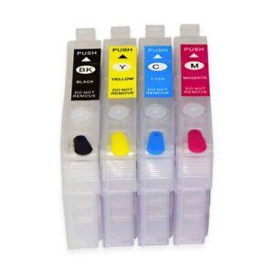 Empty Refillable for Epson T212 cartridges XP-4100 XP-4105 WF-2830 WF-2850 chip