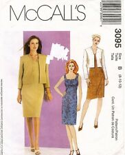 McCall's Misses' Dress and Jacket Pattern 3095 Size 8-12 UNCUT