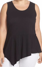 Top 0X Plus Michael Kors Sleeveless Stretch Peplum Swing Hem Tank $70 NWT MC
