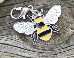 Bee Zipper Charm, Bee Handbag Charm, Bee Purse Charm, Clip On Bee Charms, Honey