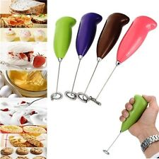 New Electric Handle Coffee Milk Egg Beater Whisk Frother Mixer Foamer