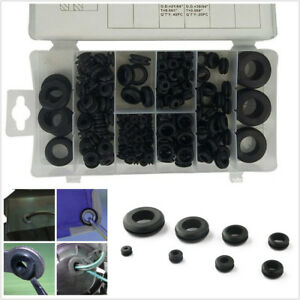 180 Pcs Mixed Sizes Automobile Assortment Electrical Gasket Rubber Grommet Rings