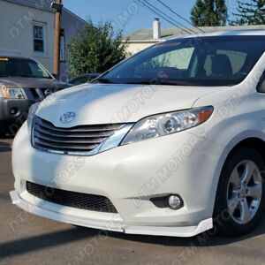 For 2011-2015 Toyota Sienna MP-Style Painted White Front Bumper Body Spoiler Lip