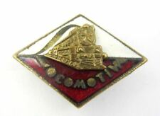 Vintage Old Rapid Bucharest emblem of Locomotive period Pin Badge Enamel Rare