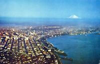 Seattle Washington Posted Sprawling City Aerial View Chrome Vintage Postcard