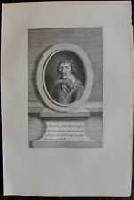 CHARLES SIRE DE CREQUY (1575-1688) AMBASSADEUR A ROME, GRAVURE 1760