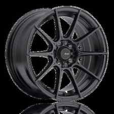 17X8 Advanti Racing Storm S1 5X100 +35 Matte Black Wheels (Set of 4)