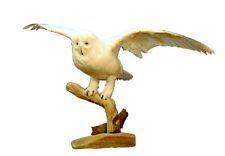 Flying Faux Snow Owl Professional Reproduction Taxidermy Animal Statue Gift