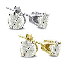 Runde Ohrschmuck aus Gelbgold mit Diamanten