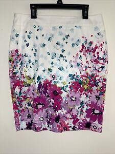 Ann Taylor Floral Skirt Size 6 Petite Women's