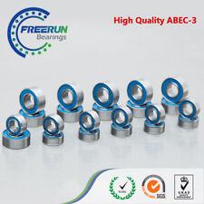 BLUE RUBBER Axial SCX10 1/10 AX10 Scorpion ARTR Ball Bearing Set ABEC-3