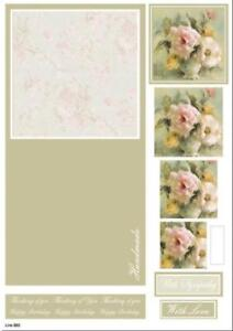 Craft UK Concept Card - Die Cut Decoupage - Line 882 - Flowers in a vase