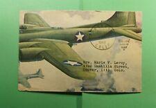 DR WHO 1943 HONDO CA FREE FRANK WWII PATRIOTIC CACHET TO COLORADO  f52460