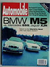 Automobile Magazine 1/1999 Mercedes E55 AMG vs Jaguar XJR vs BMW M5, Carrera 4