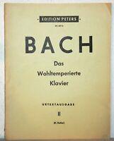 Noten BACH - Das Wohltemperierte Klavier - Urtextausgabe II (H. Keller)